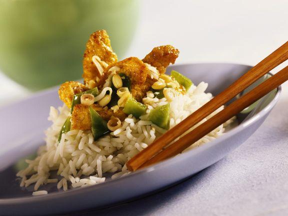 Reis mit Hähnchen