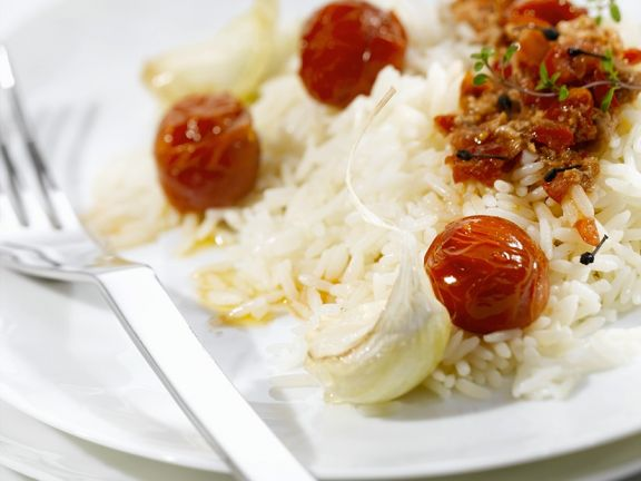 Reis mit Thunfischsauce