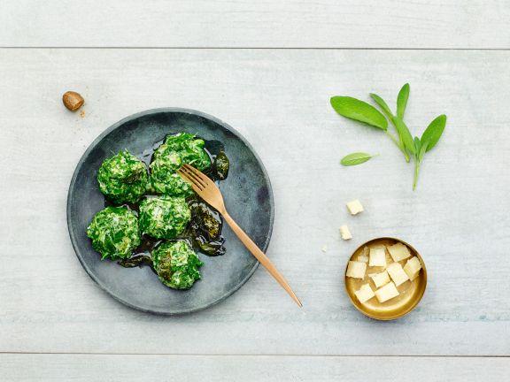 Reis-Spinatklöße mit Salbei