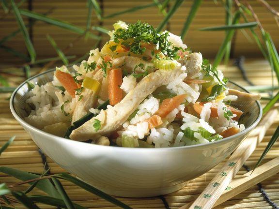 Reisfleisch mit Gemüse