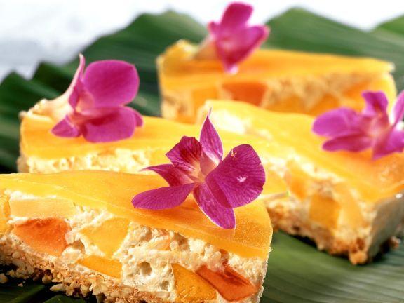Reiskuchen mit Früchten
