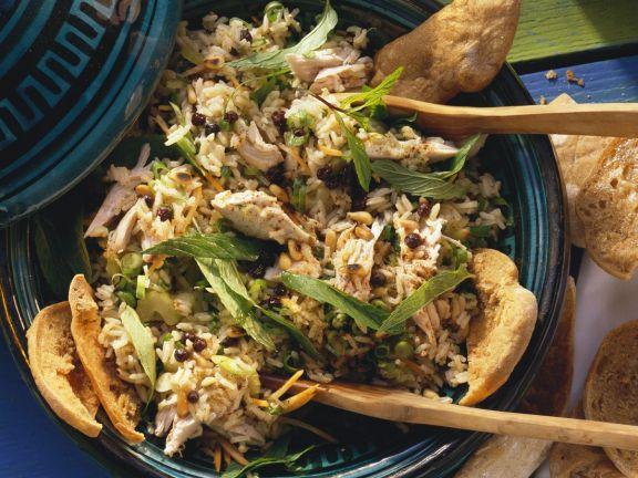 Reissalat mit Hähnchen