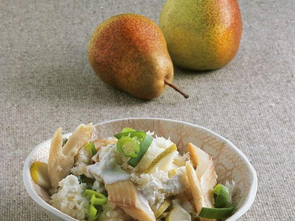 Rettichsalat mit Räucherfisch