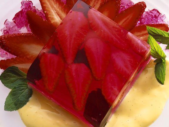 Rhabarber-Erdbeergelee