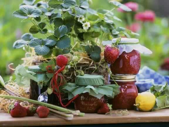 Rhabarber-Erdbeerkonfitüre