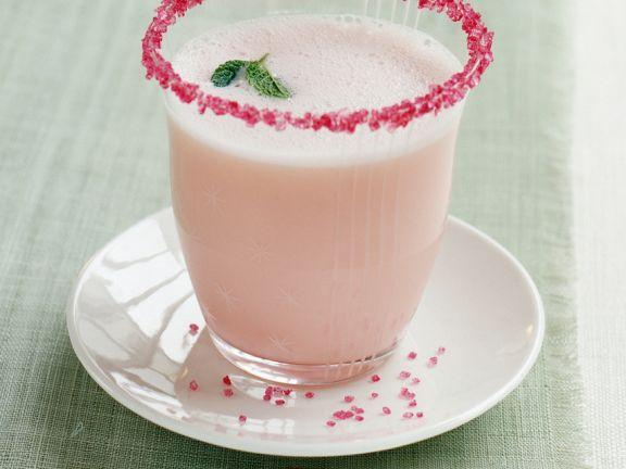 Rhabarbersmoothie mit Rosenwasser
