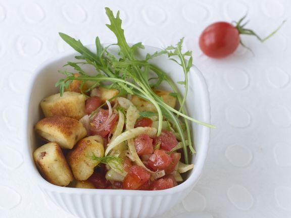 Ricotta-Gnocchi mit Estragon-Tomaten-Marinade
