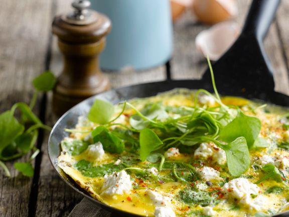 Ricotta-Omelett mit Portulak