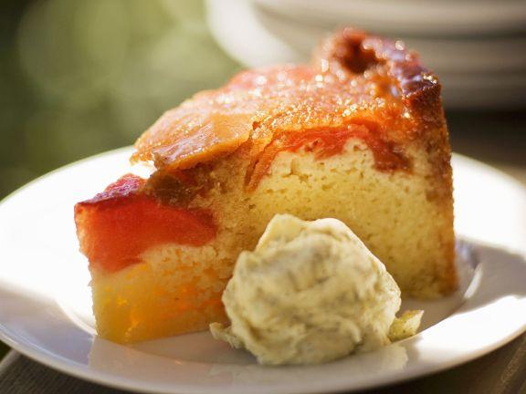 Ricottakuchen mit Pfirsich