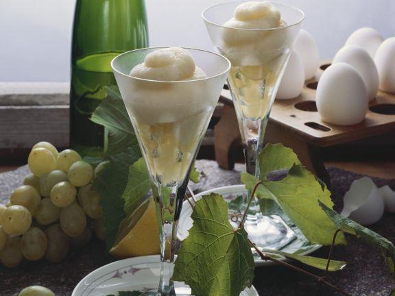 Rieslingsorbet mit Weintrauben