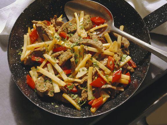 Rinder-Gemüsegeschnetzeltes