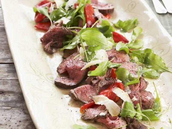 Rinderfilet mit Salat