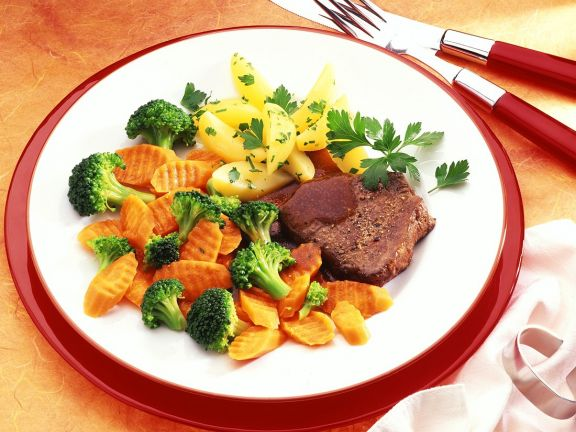 Rinderschmorbraten mit Gemüse