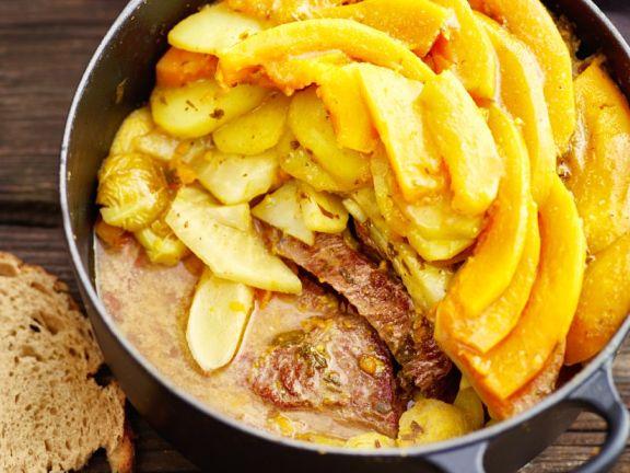 Rindfleisch-Gemüse-Eintopf aus dem Ofen