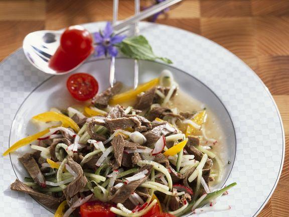 Rindfleisch-Gemüse-Salat