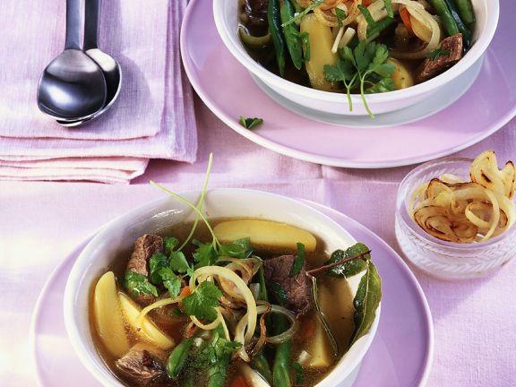 Rindfleisch-Gemüseeintopf