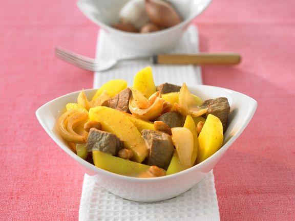 Rindfleisch-Kartoffelcurry