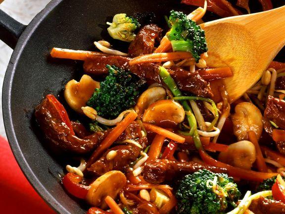 rindfleisch mit gem se aus dem wok rezept eat smarter. Black Bedroom Furniture Sets. Home Design Ideas