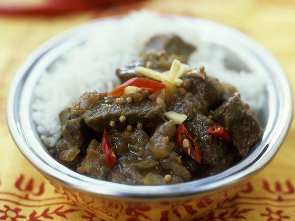 Rindfleisch nach ayurvedischer Art