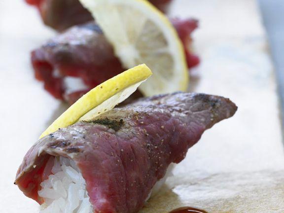 Rindfleisch-Nigiri