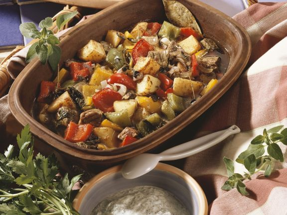 Rindfleisch-Paprika-Topf mit Kartoffeln