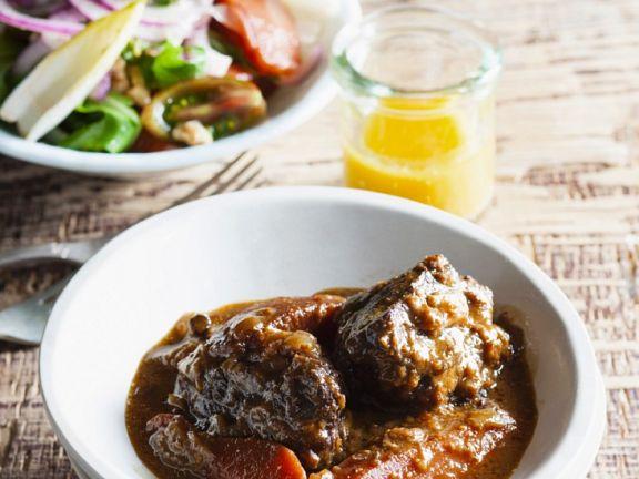 Rindfleisch-Quitten-Schmortopf