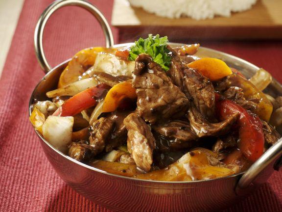 Rindfleischtopf mit schwarzen Bohnen