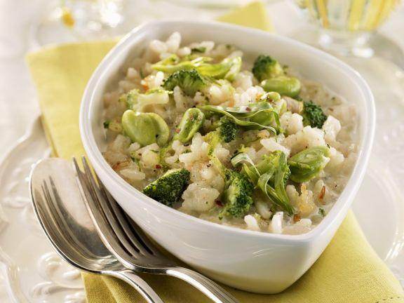 Risotto mit grünem Gemüse