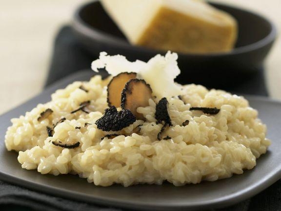 Risotto mit Parmesan und schwarzem Trüffel