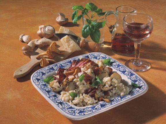 Risotto mit Pilzen und Radicchio