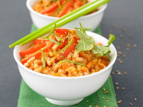 Risotto mit rotem Curry