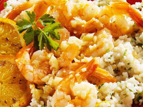 Risotto mit Shrimps