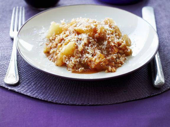 Risotto mit Tomaten und Kartoffeln