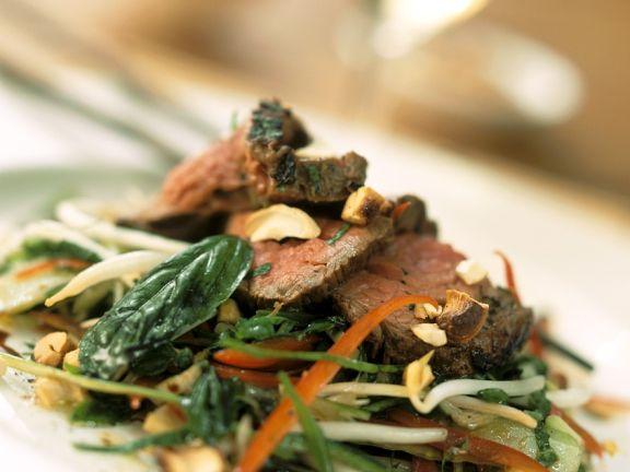 Roastbeef-Gemüsesalat
