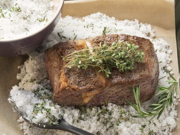 Roastbeef im Salzmantel gebacken