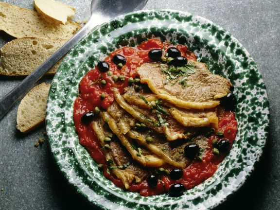Roastbeef in Tomaten-Kapernsauce