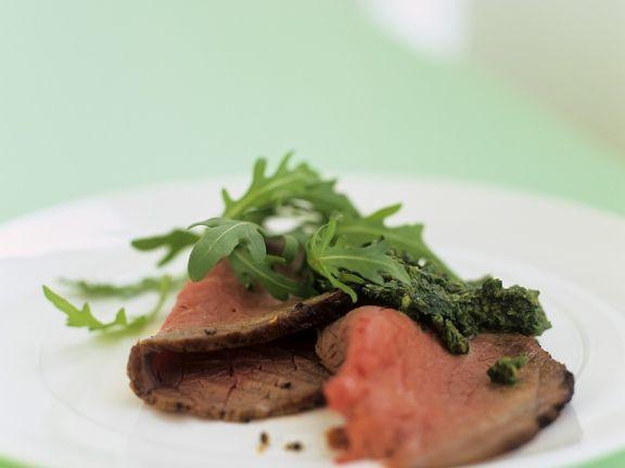 Roastbeef mit Salsa-Verde-Dip
