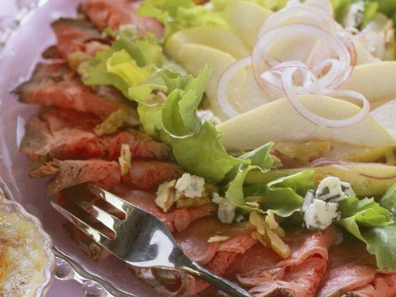 Roastbeefplatte mit Salat