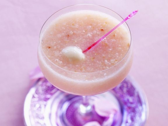 Rose-Cocktail mit Litchi