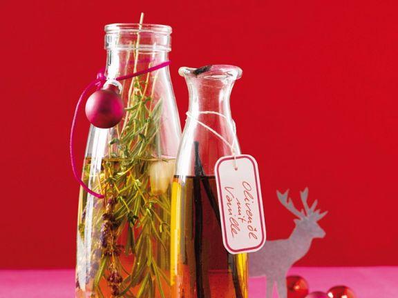 Rosmarin-Thymian-Öl und Vanille-Oliven-Öl