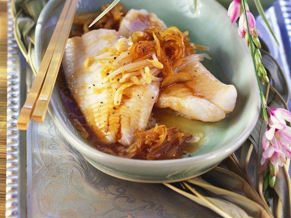 Rotbarsch mit Reis