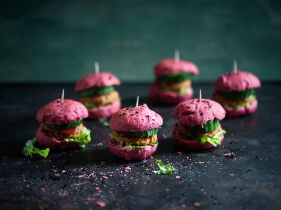 Rote-Bete-Bohnen-Miniburger