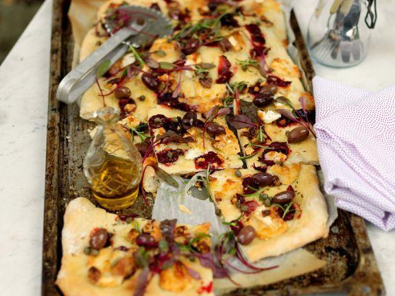 Rote Bete-Pizza