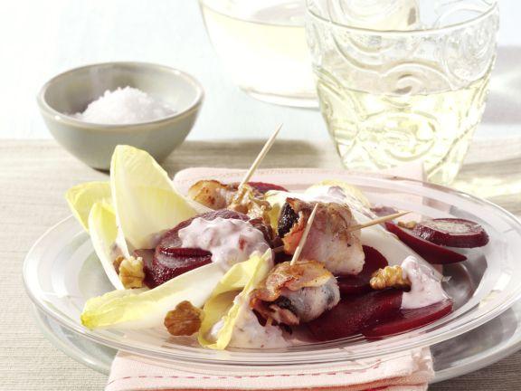 Rote-Bete-Salat mit Chicorée und Speckpflaume