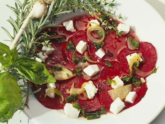 Rote Bete Salat mit Frischkäse