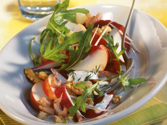 Rote Bete Salat mit Krabben