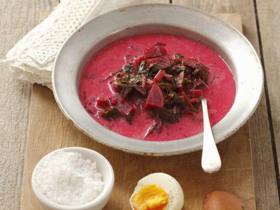 Rote-Bete-Suppe auf polnische Art (Botwinka)