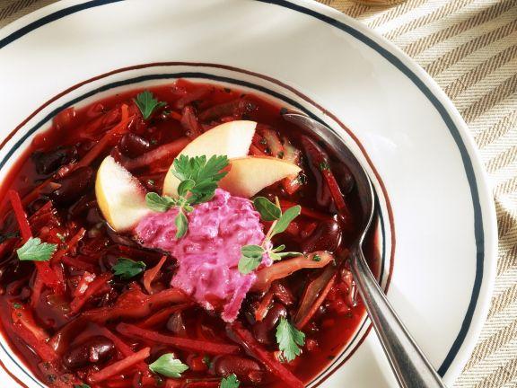 rote bete suppe mit bohnen und apfel rezept eat smarter. Black Bedroom Furniture Sets. Home Design Ideas