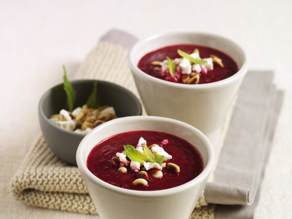 Rote-Bete-Suppe mit Ingwer