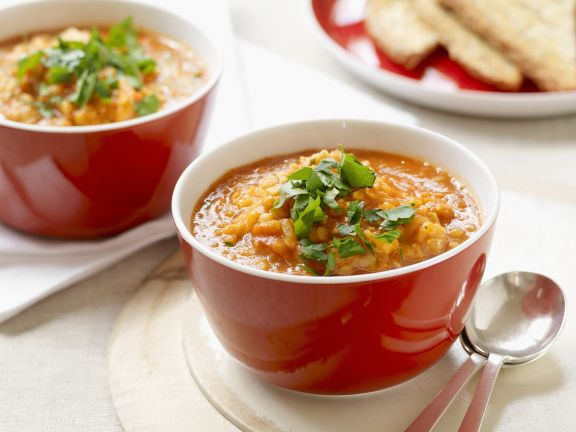 Linsen-Tomaten-Suppe
